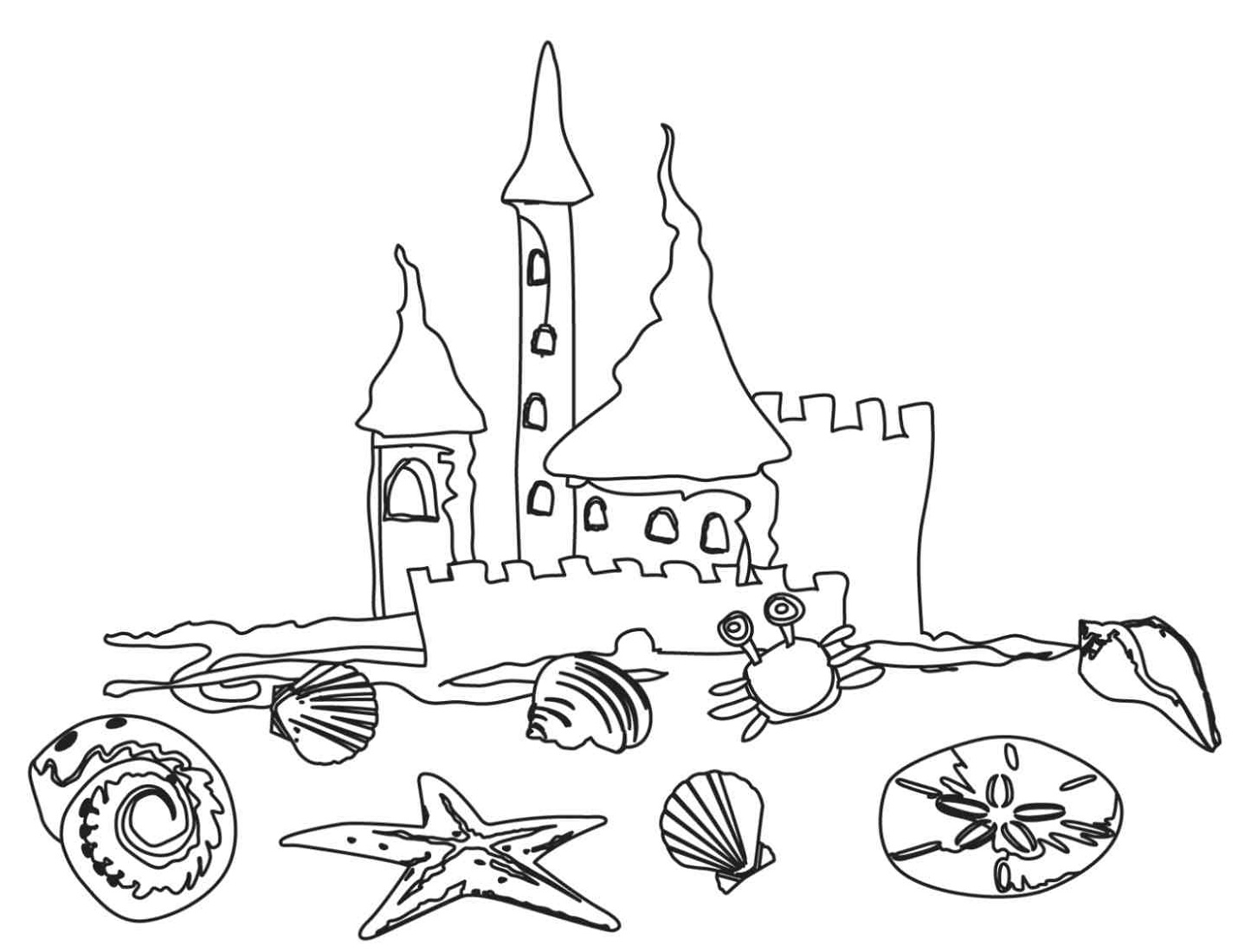beach coloring pages 5