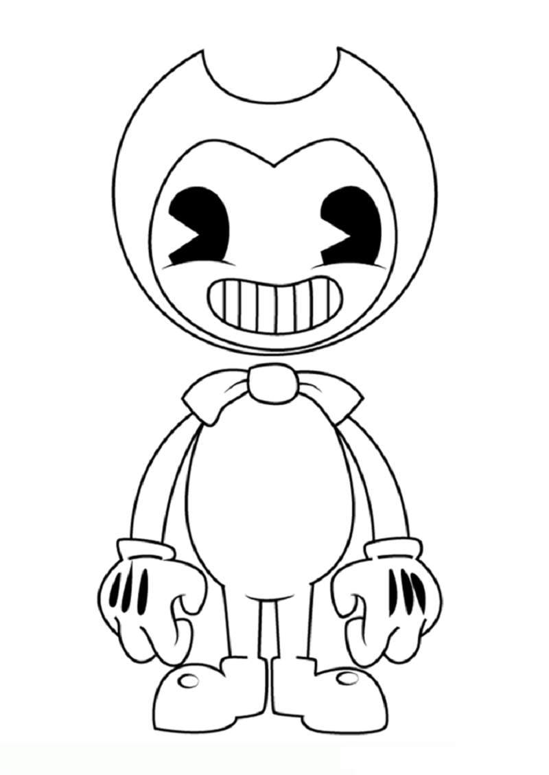 bendy coloring pages 1