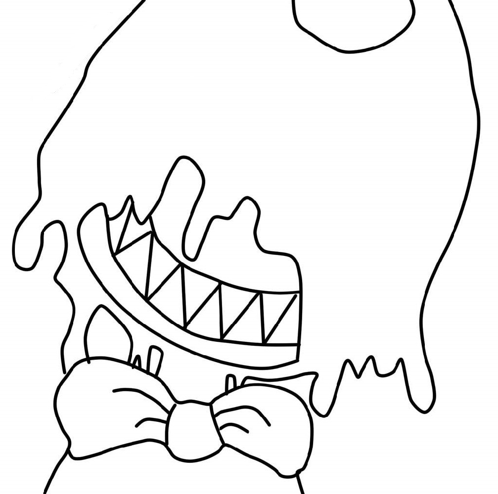 bendy coloring pages 2