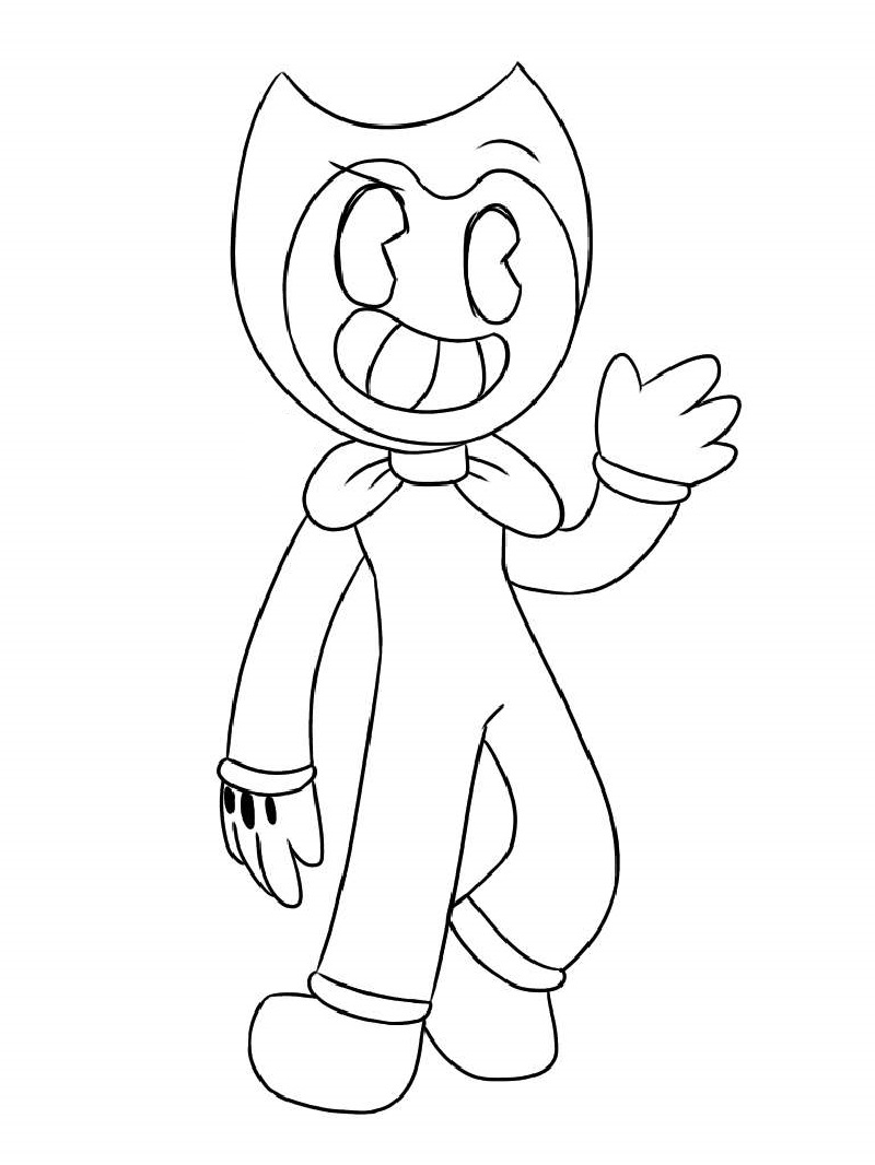 bendy coloring pages 4