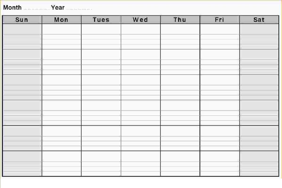blank weekly calendar 2