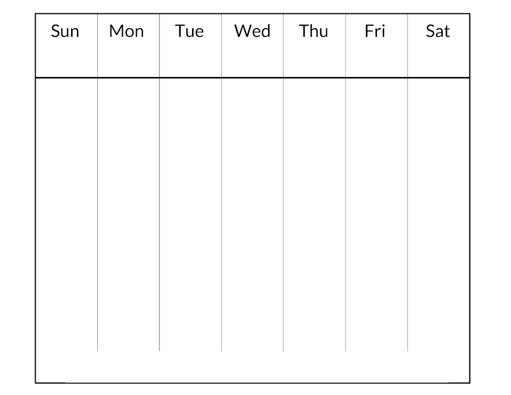 blank weekly calendar 3