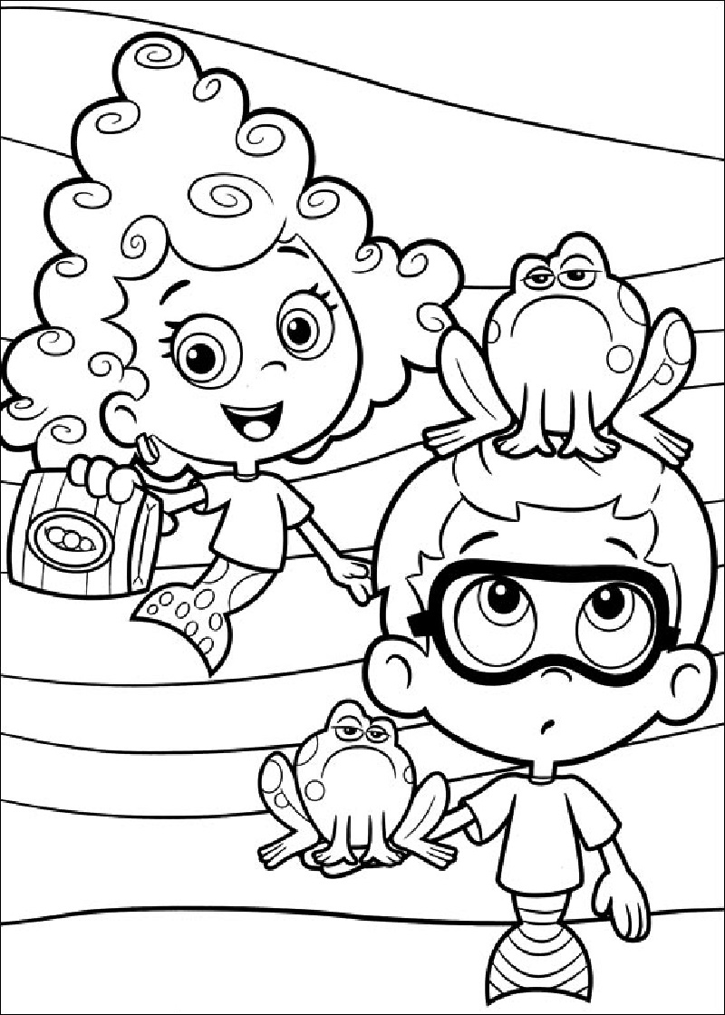 bubble guppies coloring pages 1