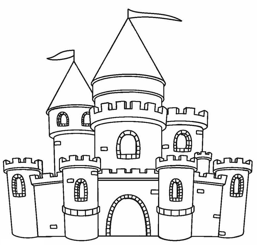 castle coloring pages 2