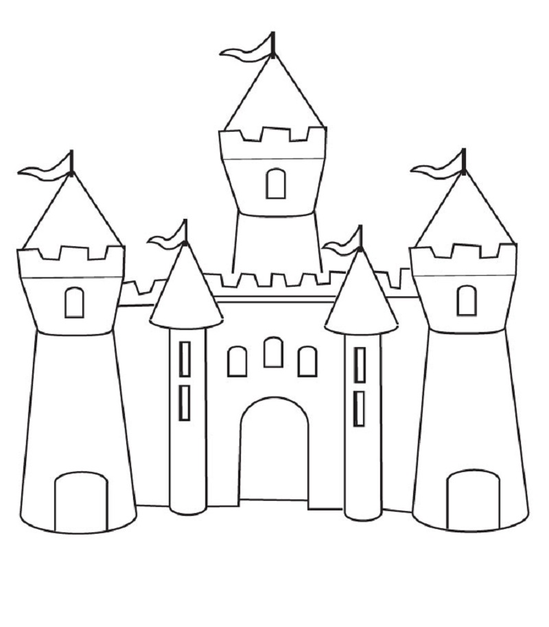 castle coloring pages 3