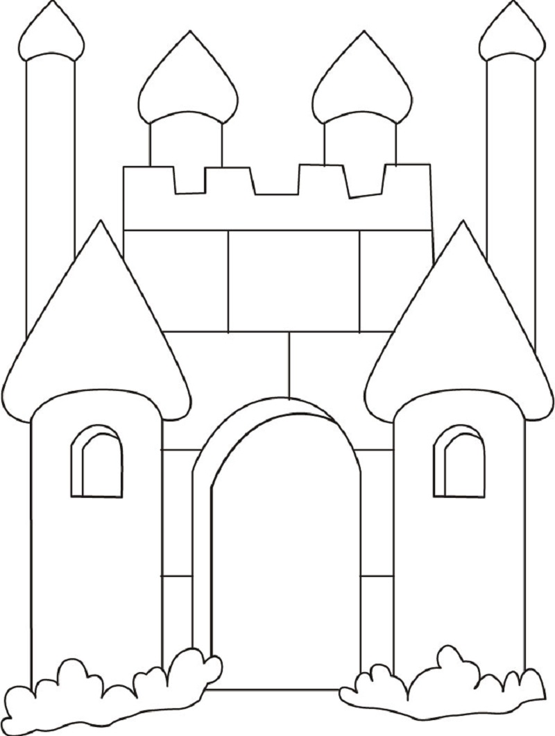 castle coloring pages 5