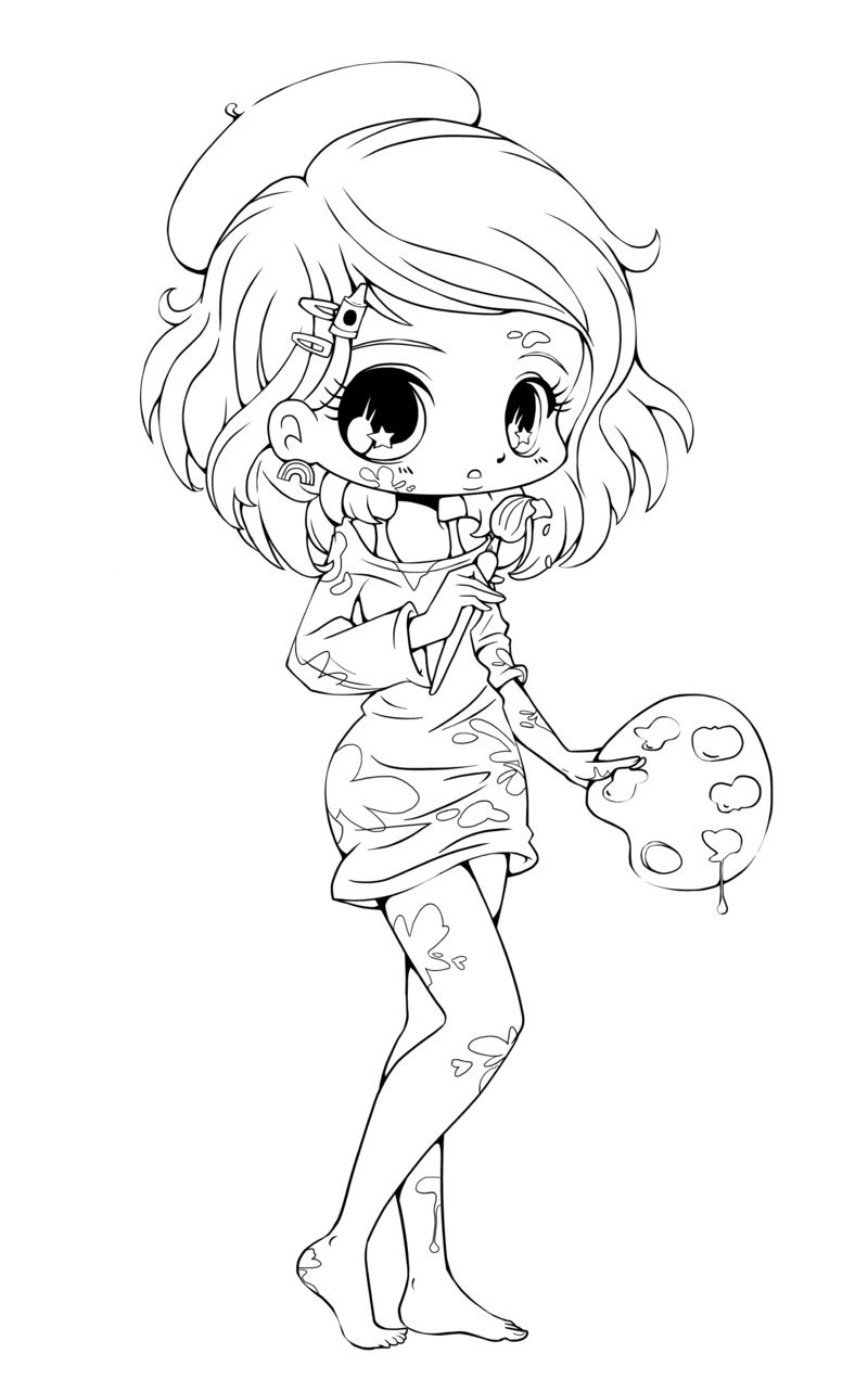 chibi girl coloring pages 1