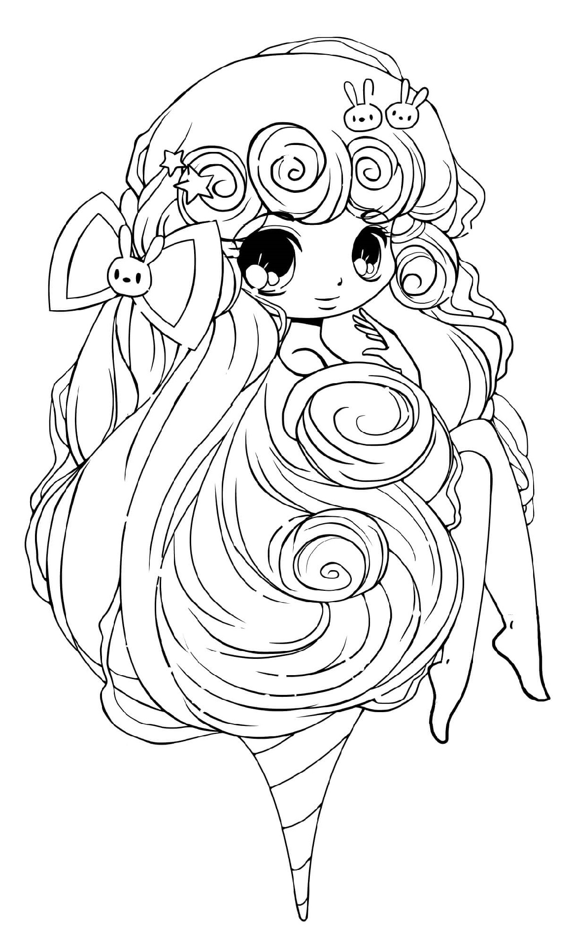 chibi girl coloring pages 2