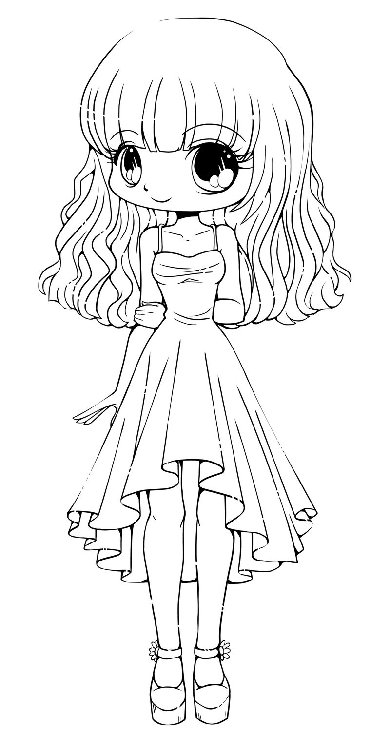 chibi girl coloring pages 3