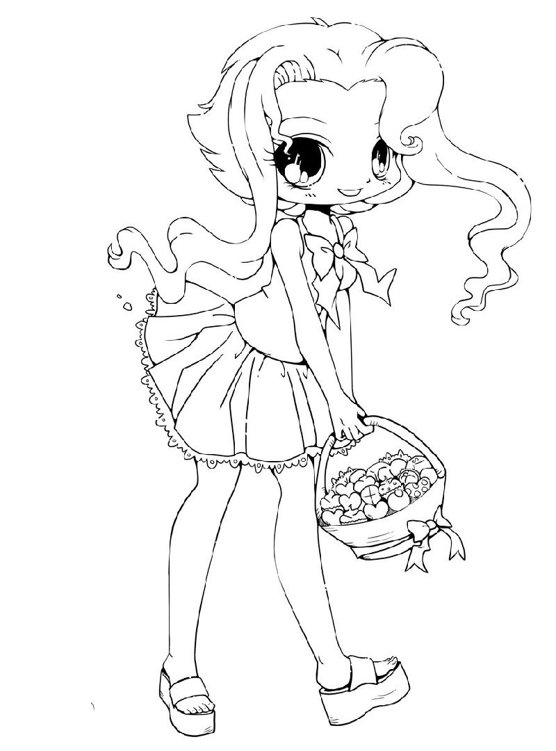 chibi girl coloring pages 4