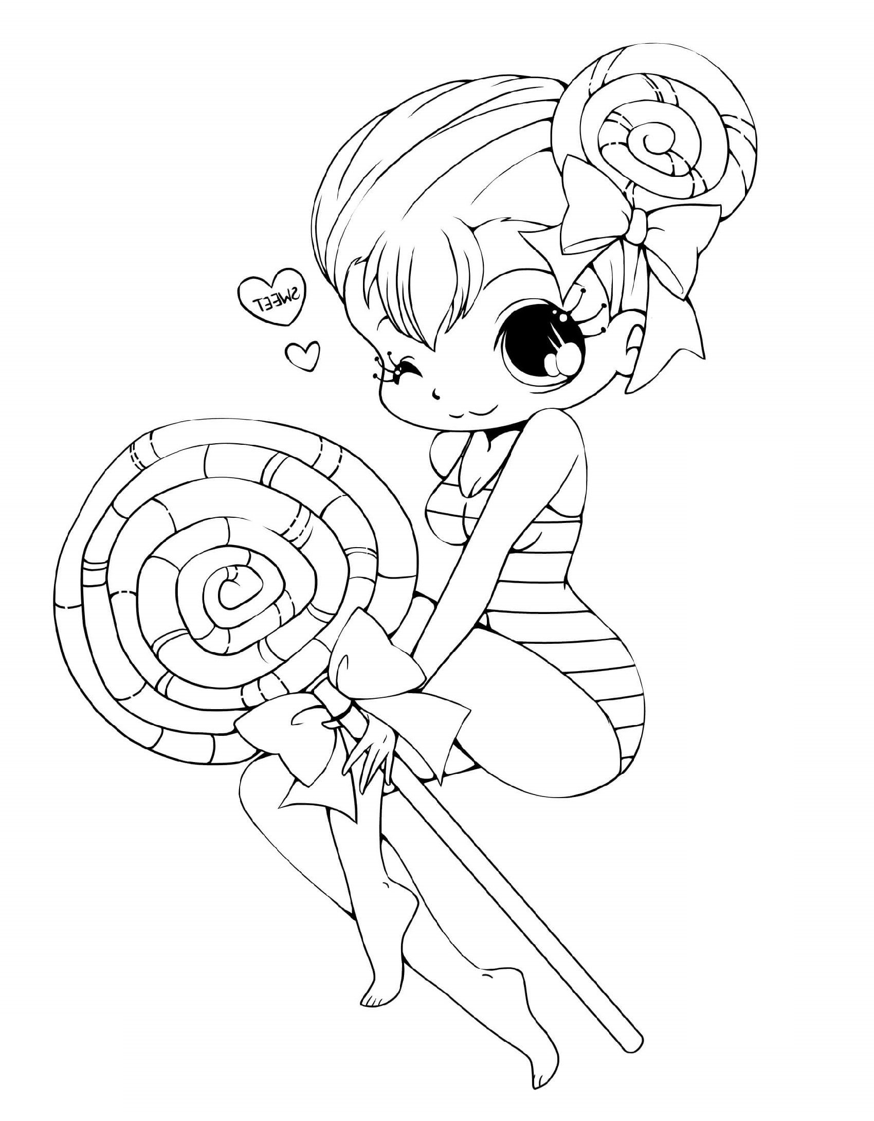chibi girl coloring pages 5
