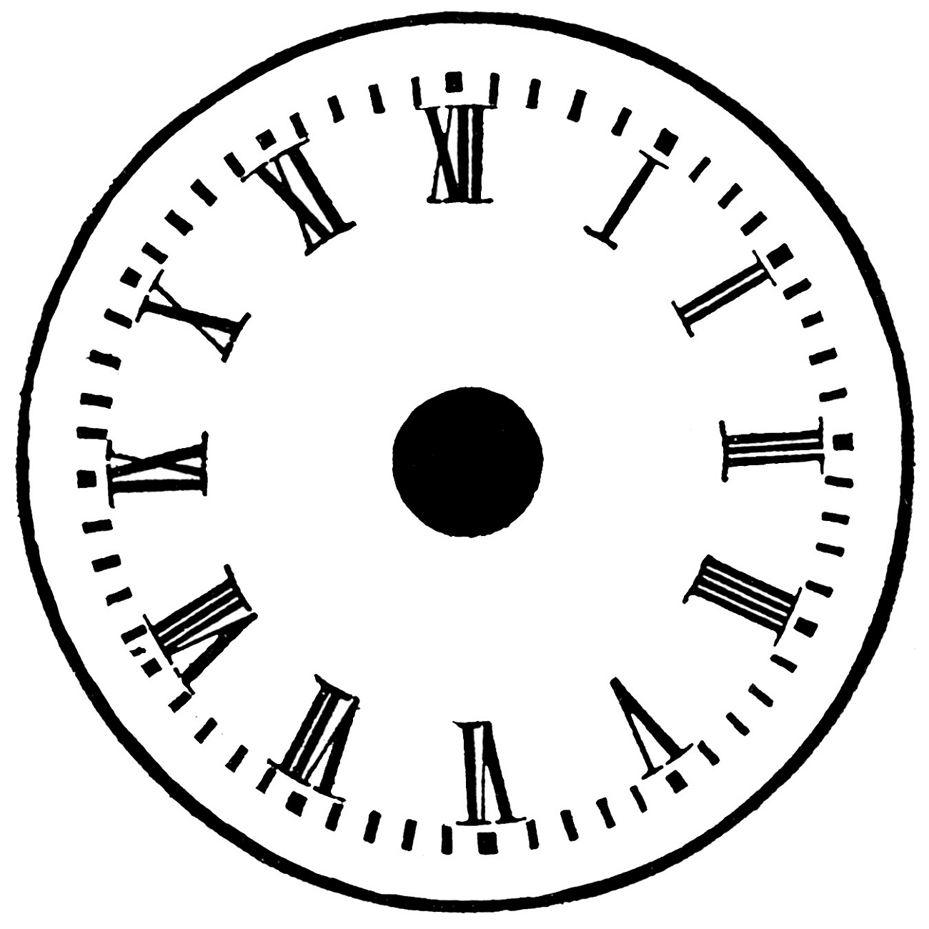 clock face printable 1