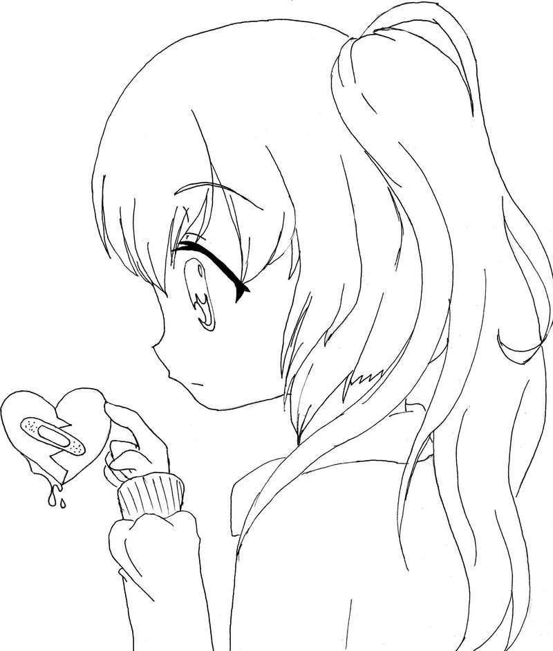 cute anime coloring pages 1