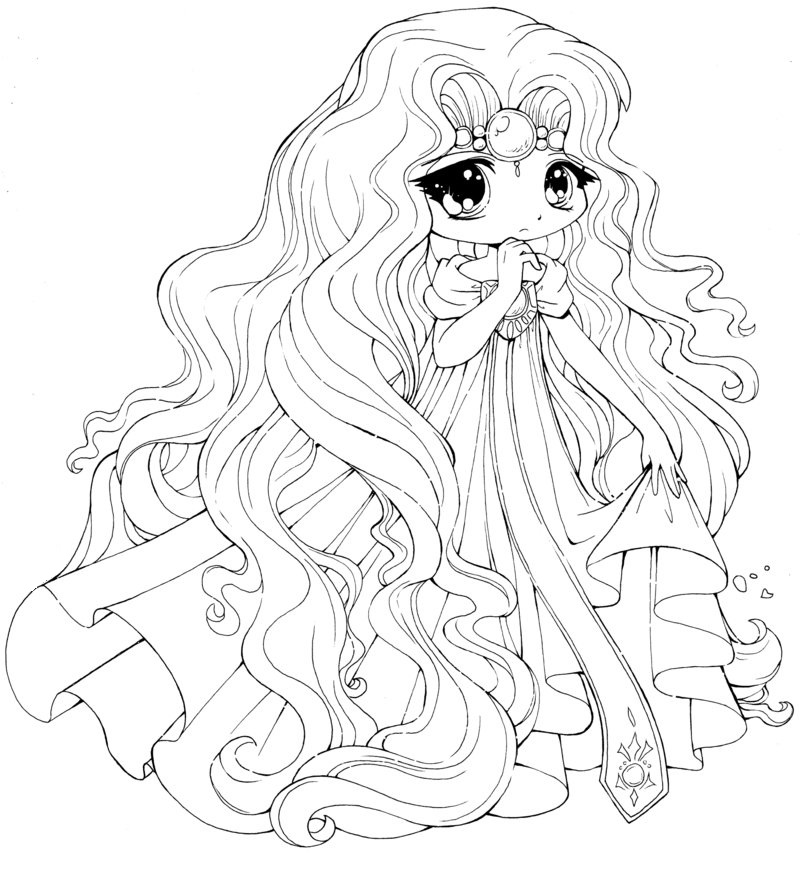 cute anime coloring pages 4