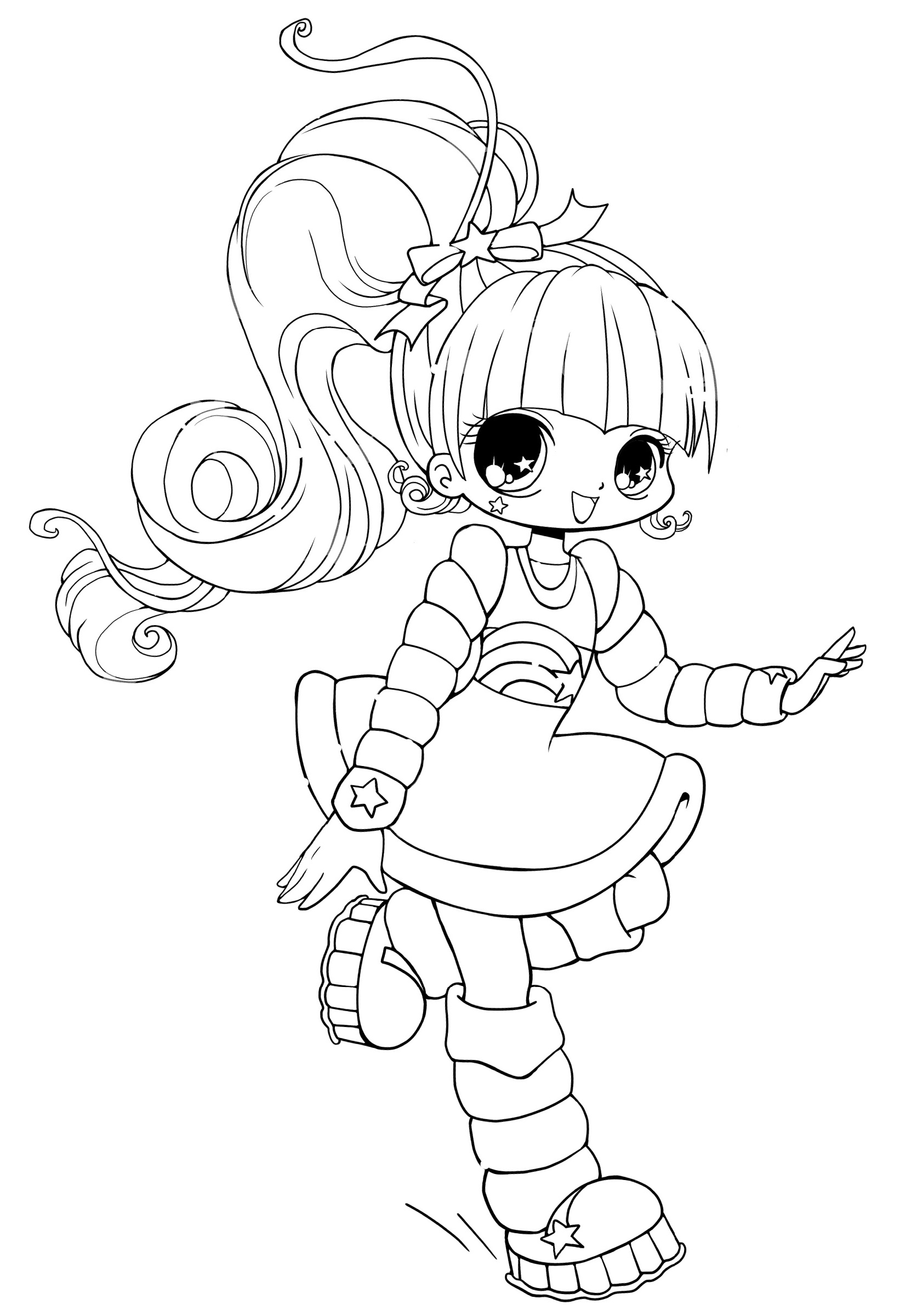cute anime coloring pages 5