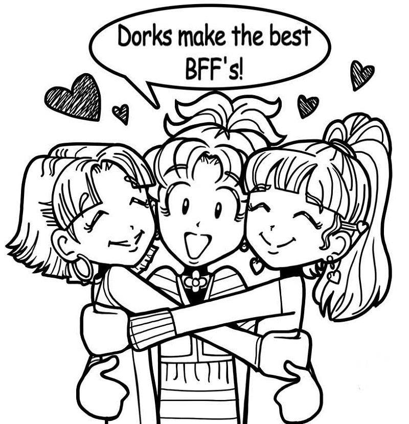 dork diaries coloring pages 1