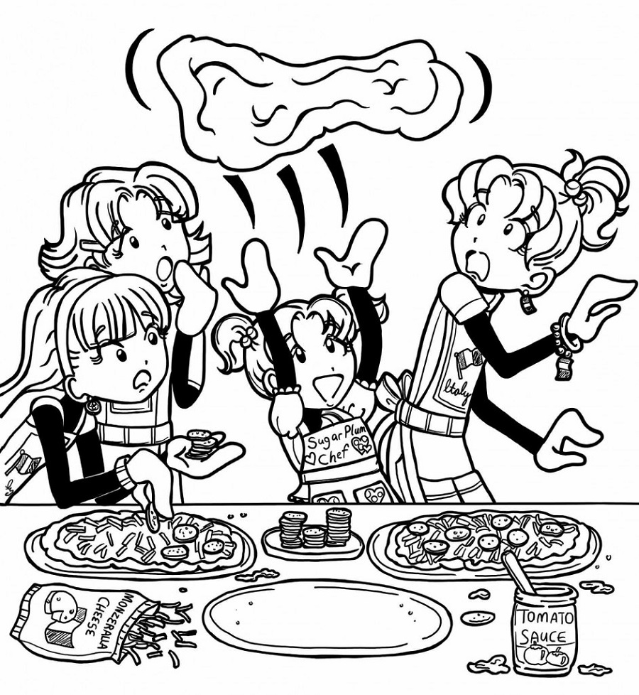 dork diaries coloring pages 3