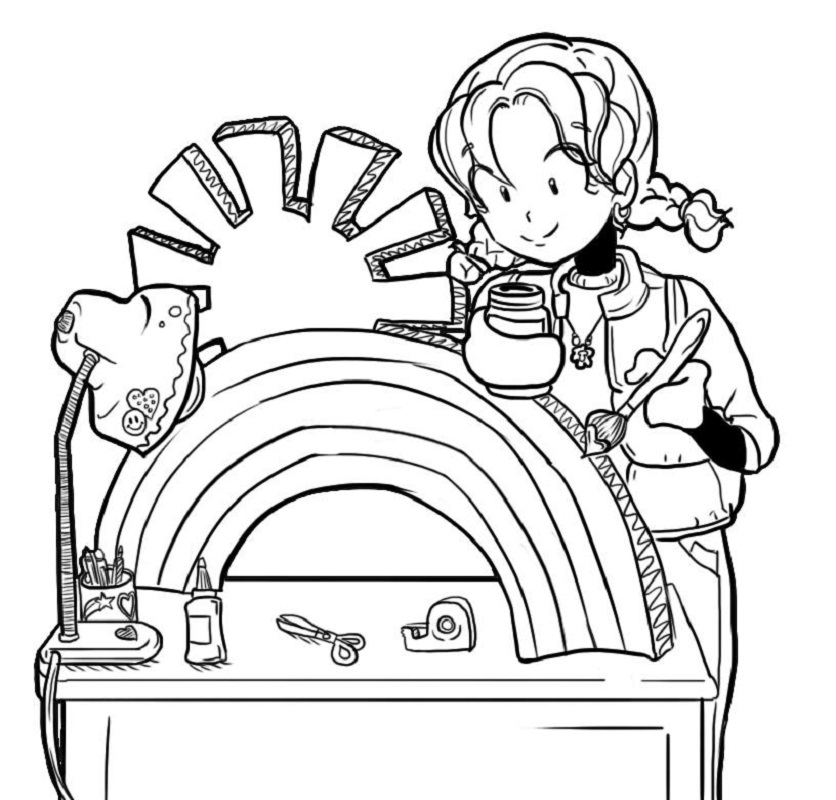 dork diaries coloring pages 4