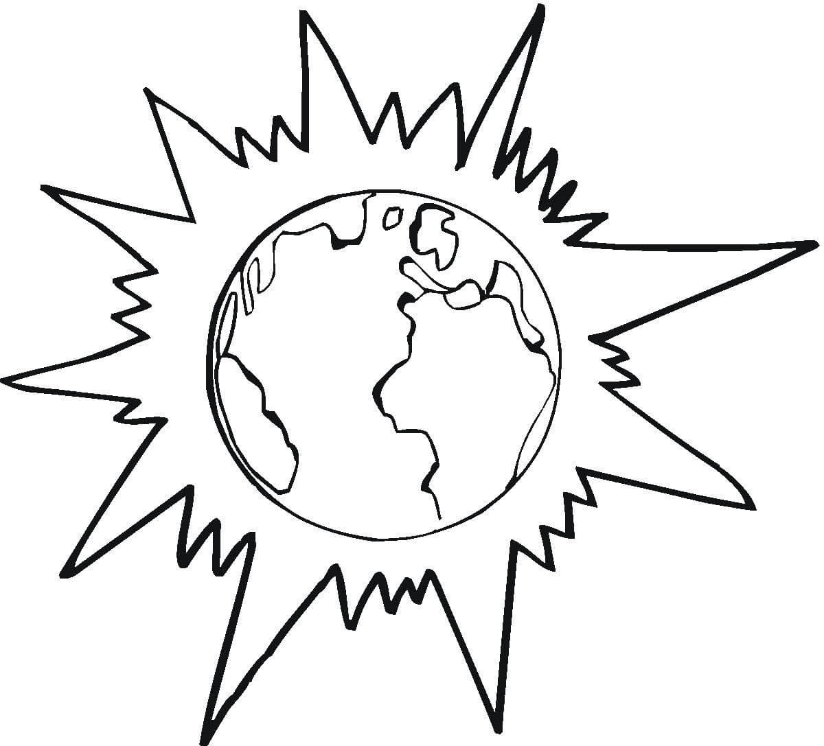 eclipse coloring pages planet earth
