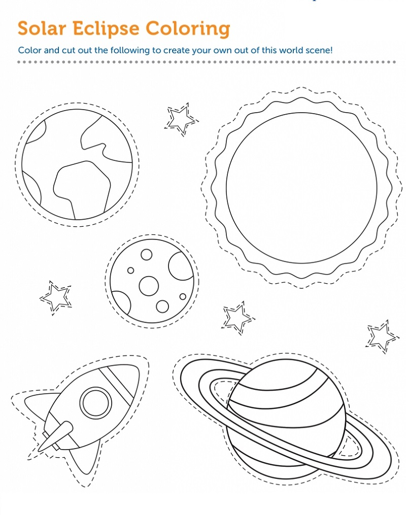 eclipse coloring pages solar eclipse star