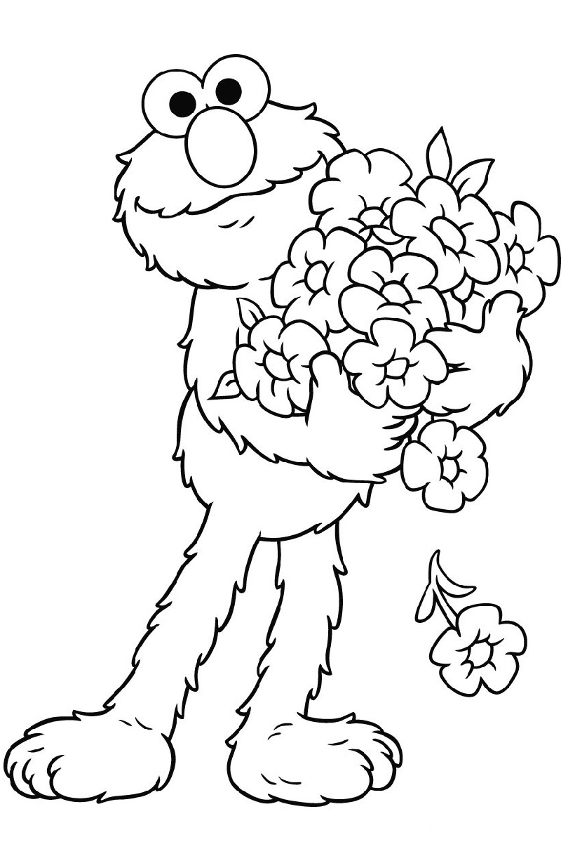 elmo coloring pages 1