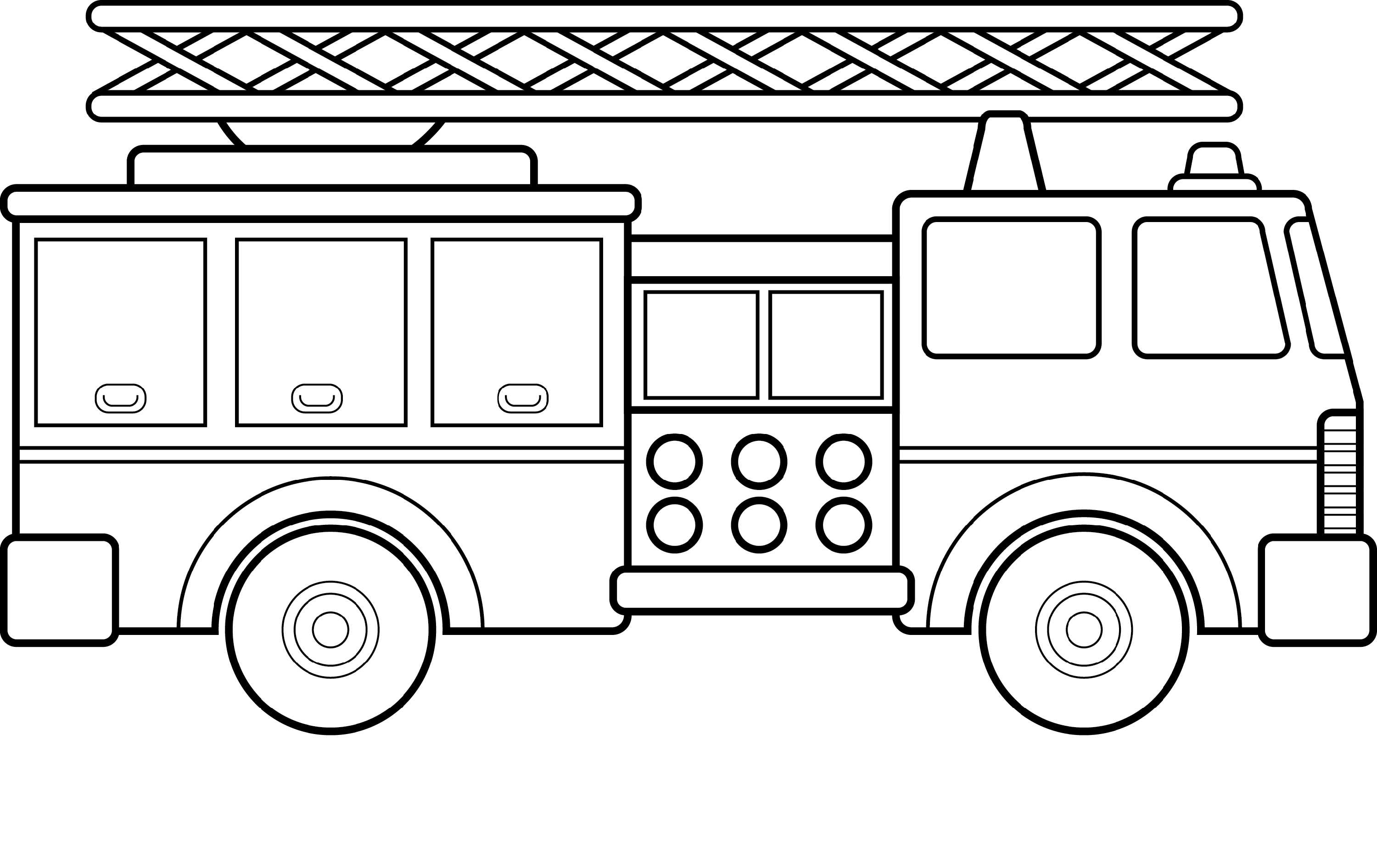 fire truck coloring page 1