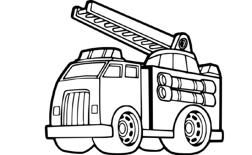Fire Truck Coloring Page For Free Use