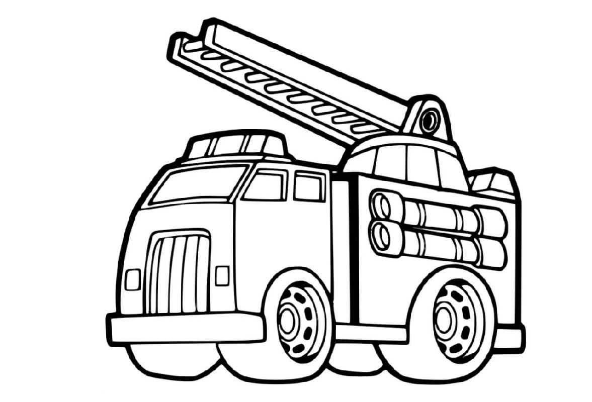 fire truck coloring page 2