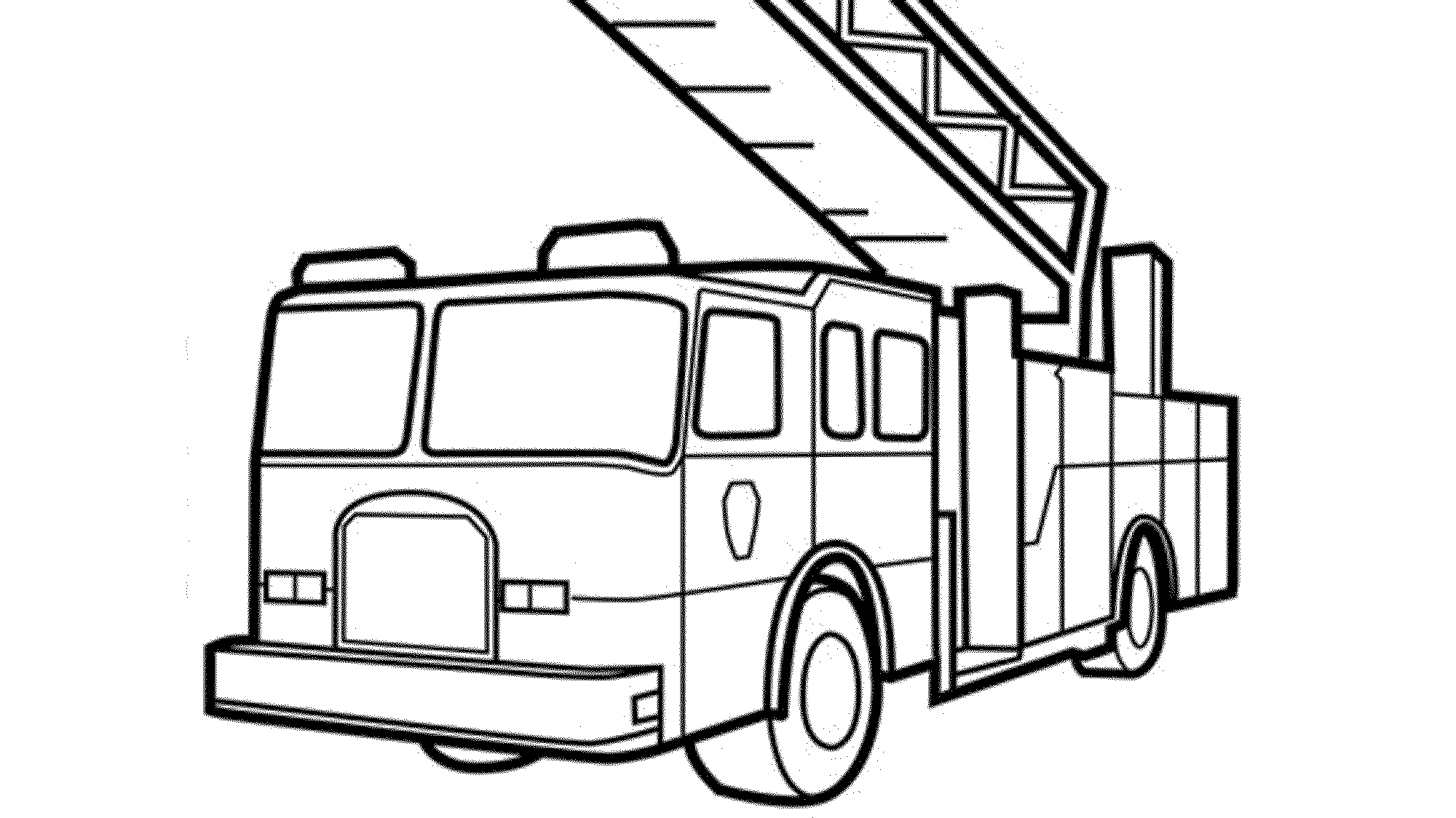 fire truck coloring page 3