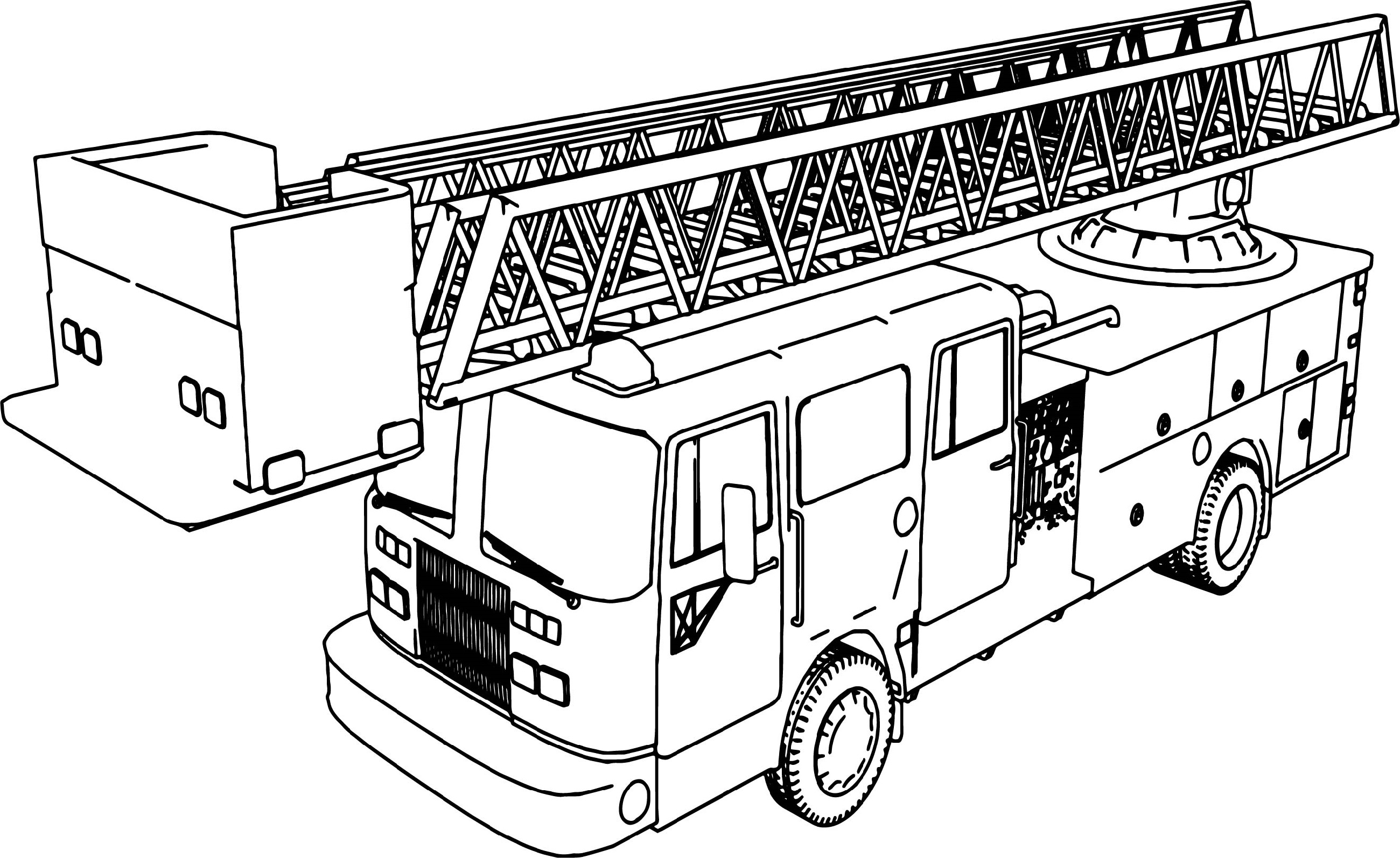 fire truck coloring page 4