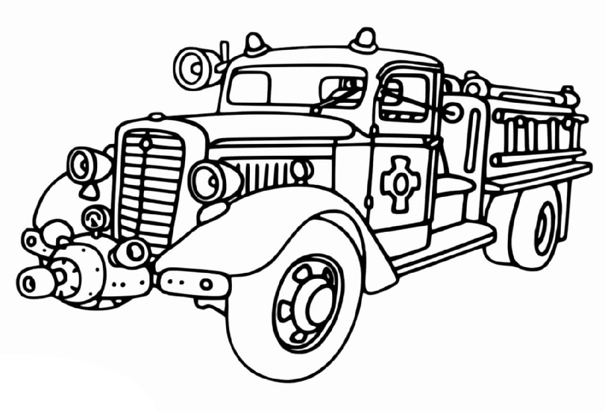 fire truck coloring page 5