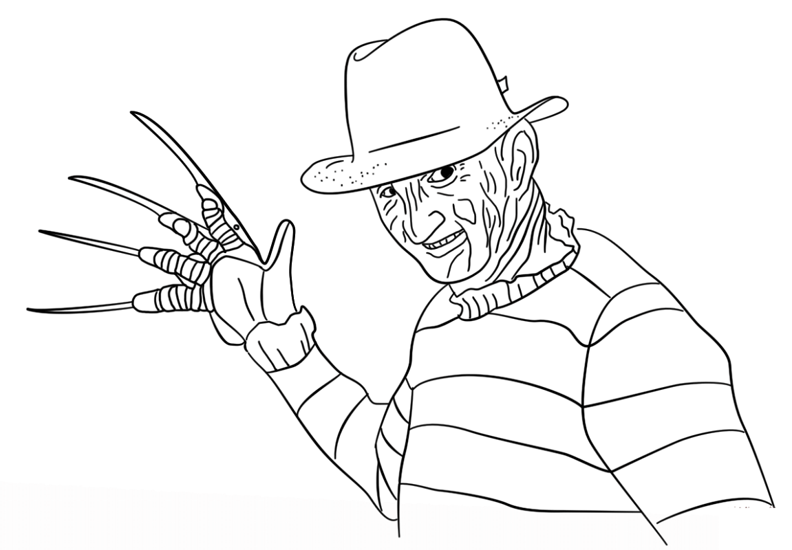 freddy krueger coloring pages 1