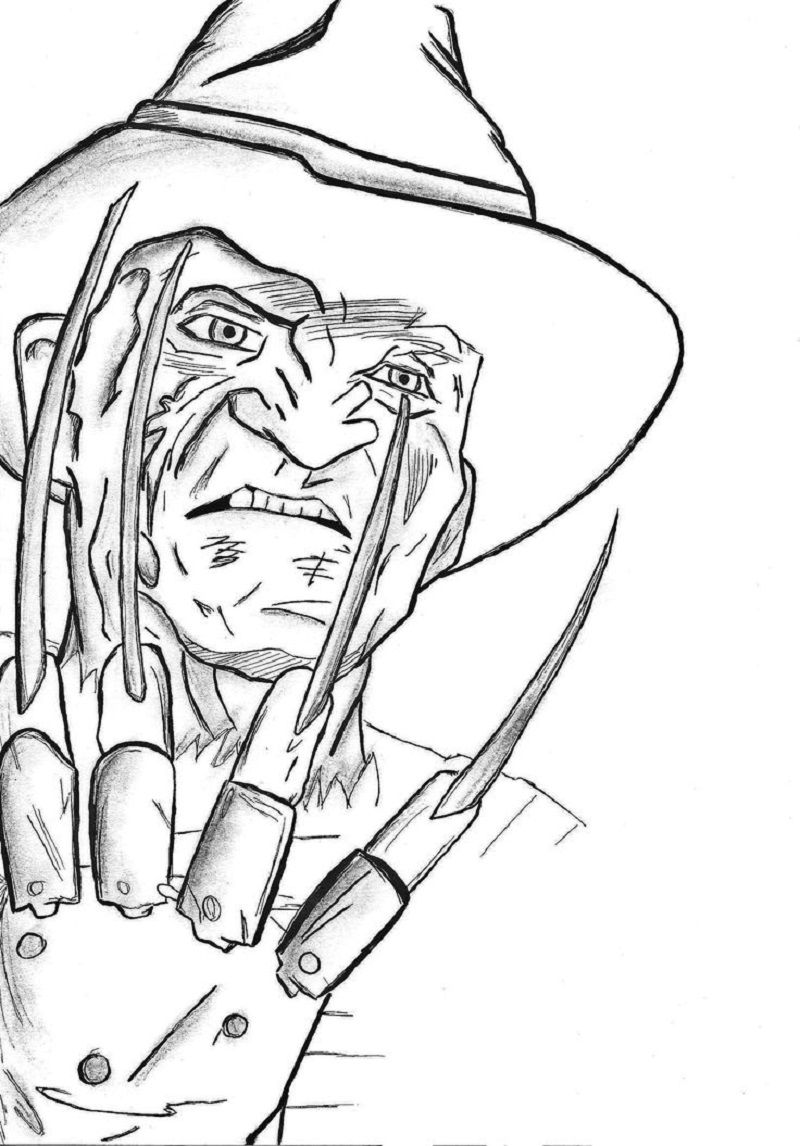 freddy krueger coloring pages 2