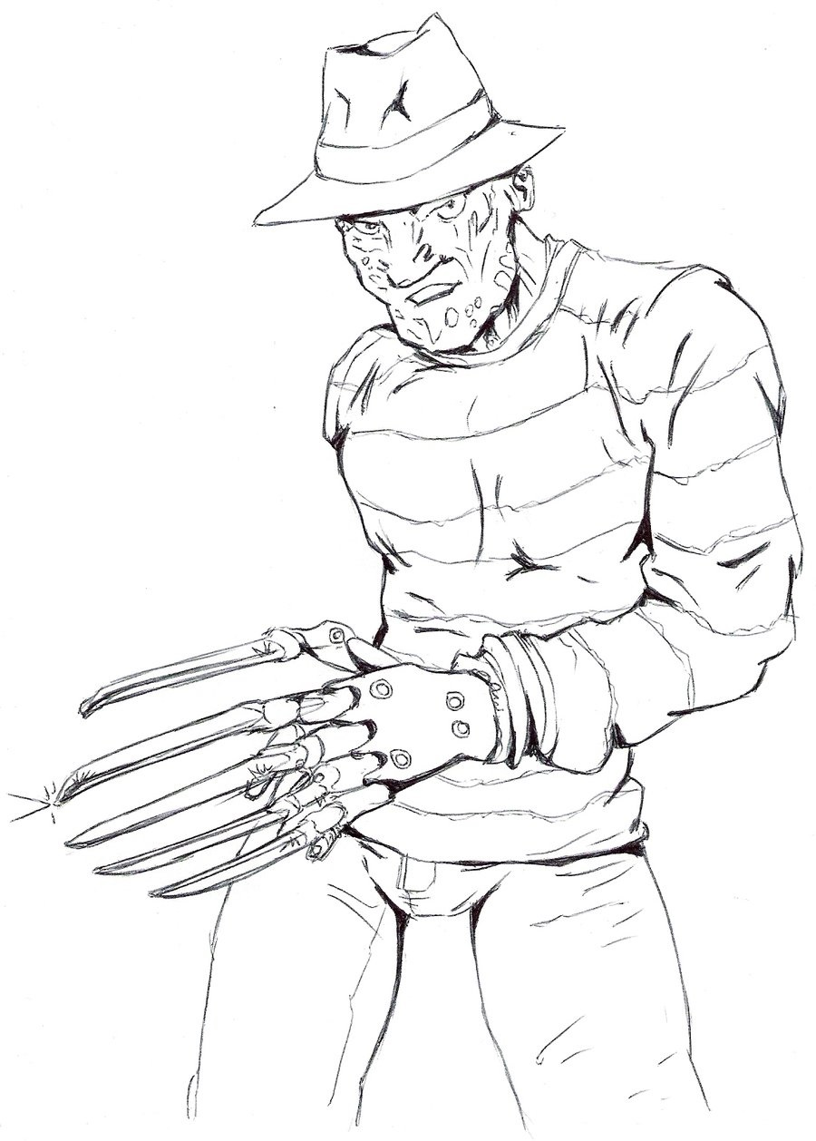 freddy krueger coloring pages 3