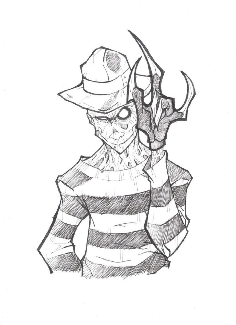 freddy krueger coloring pages 4