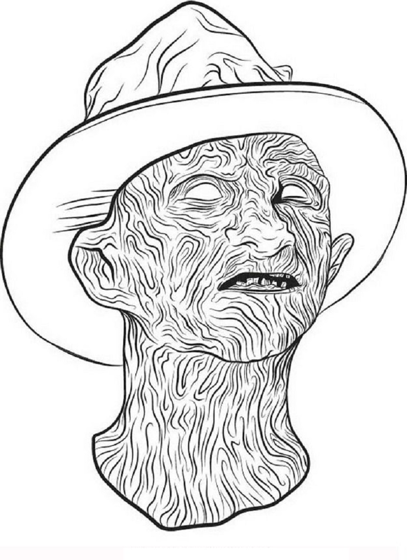 freddy krueger coloring pages 5