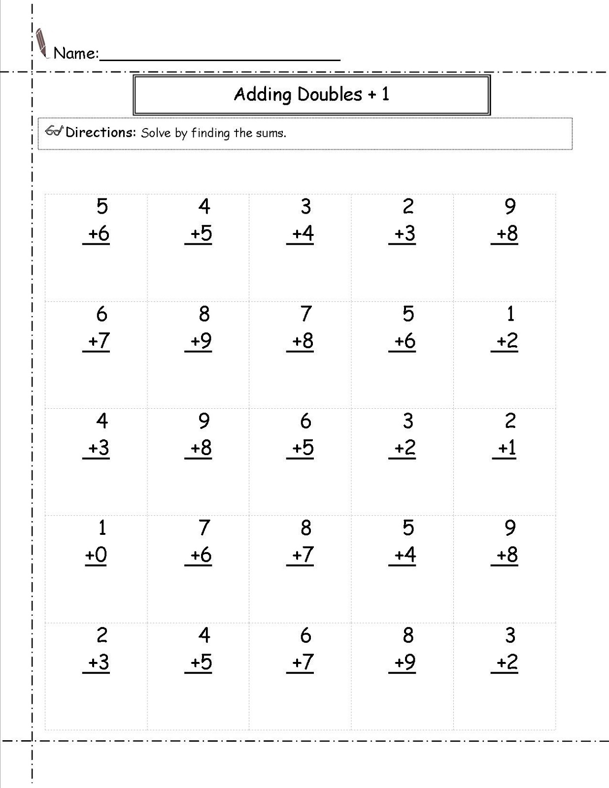 free math worksheets for 1st grade 3