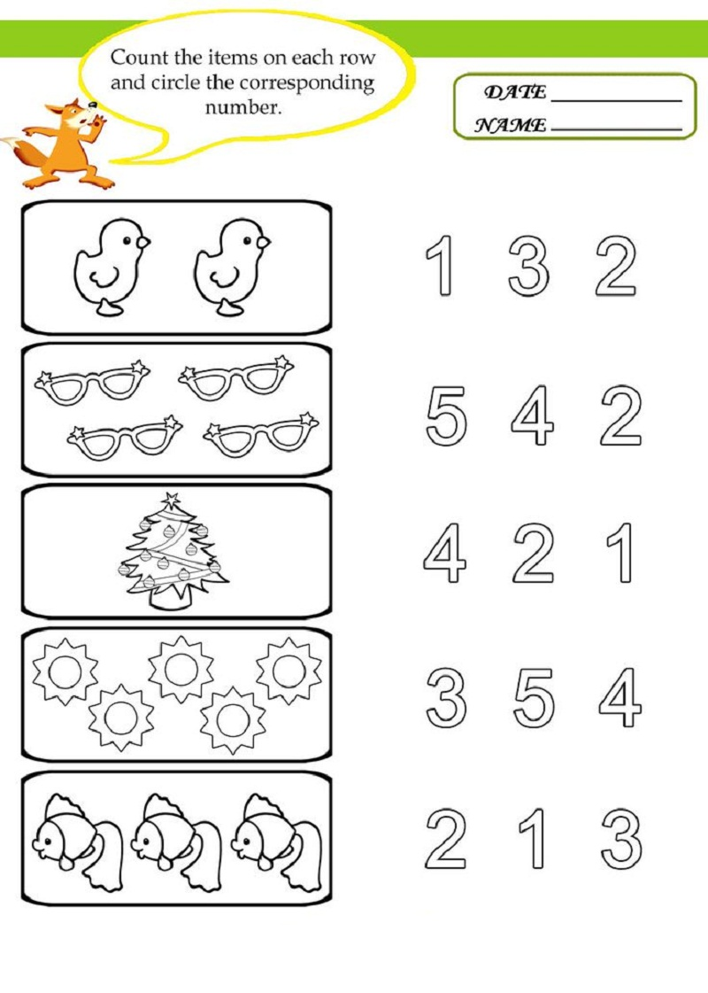 free preschool worksheets 1