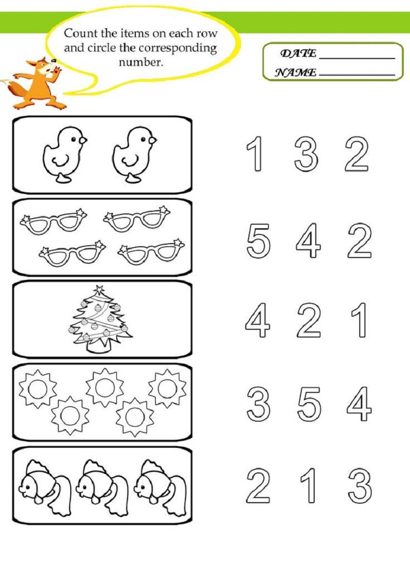 free preschool worksheets 1