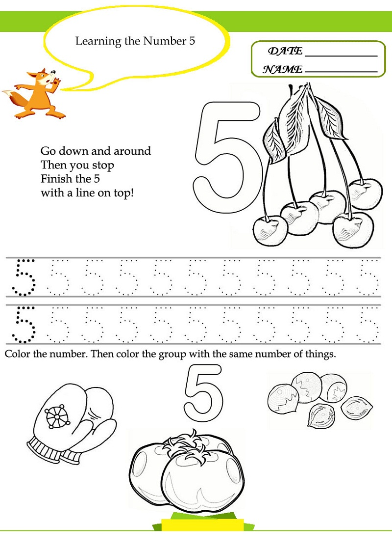 free preschool worksheets 4