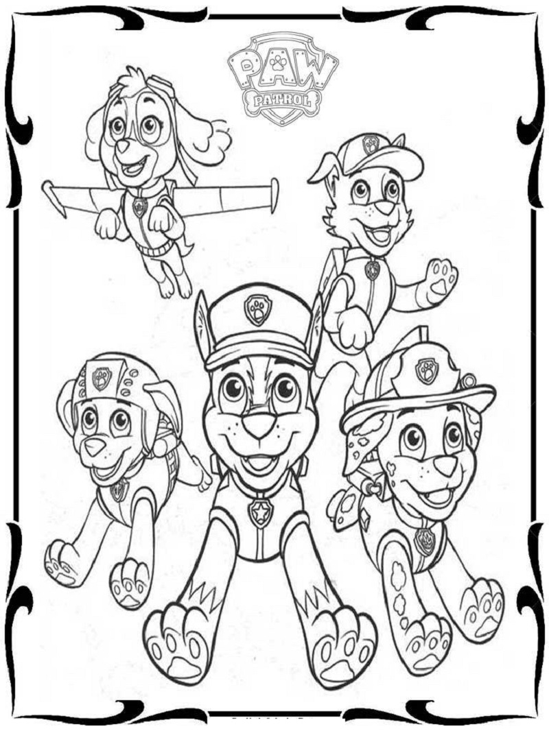 free printable paw patrol coloring pages 2