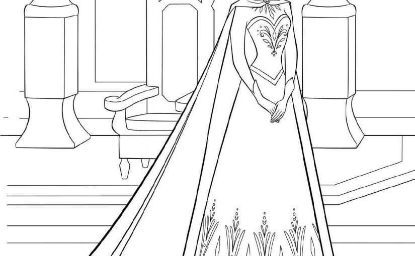 Frozen Coloring Pages Pdf for Free Usage