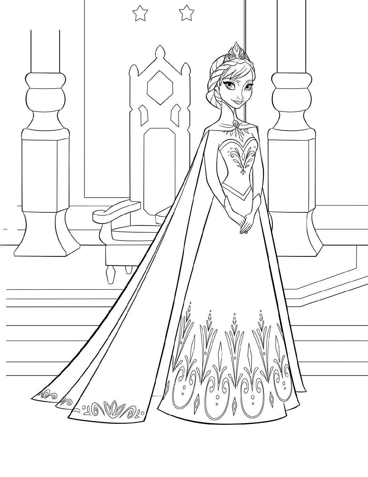 frozen coloring pages pdf 1
