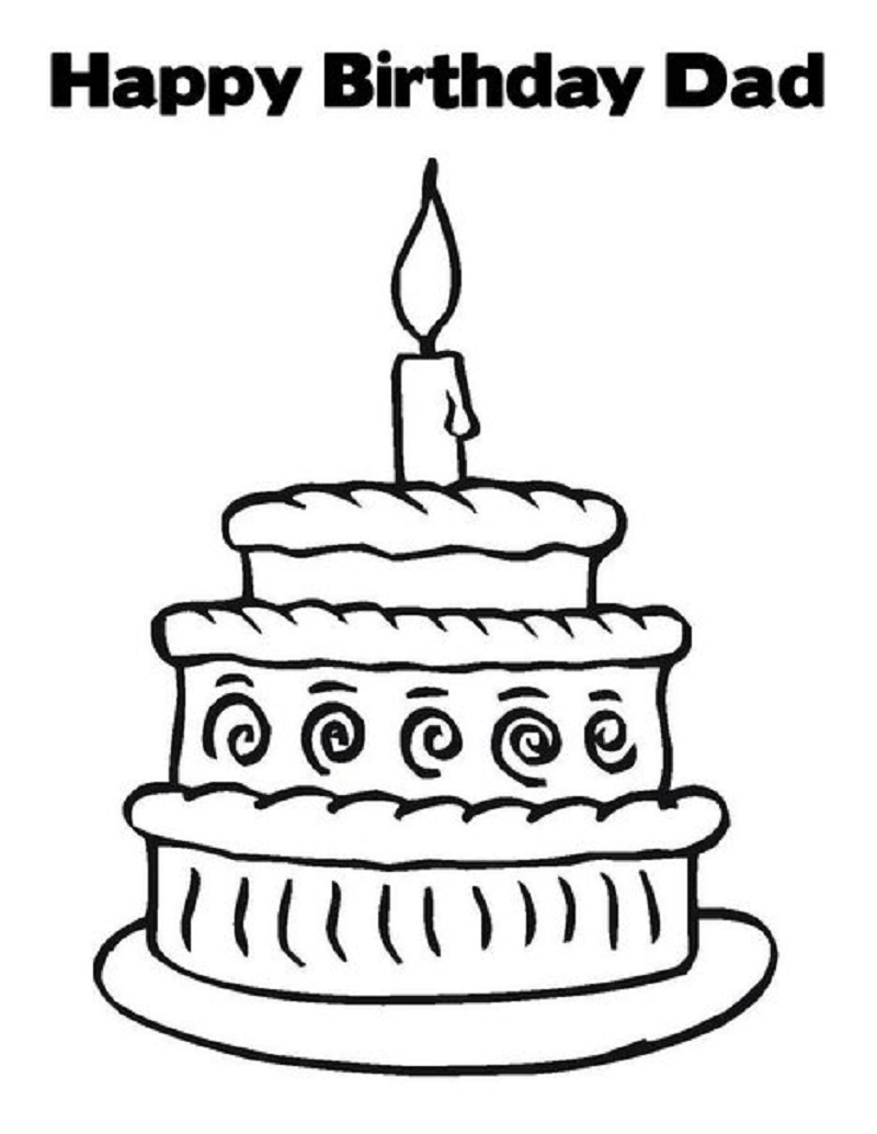 happy birthday dad coloring pages 5
