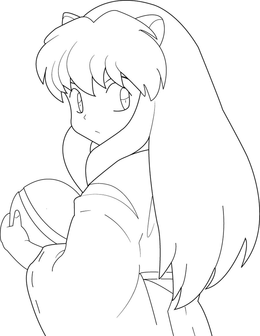 inuyasha coloring pages 2