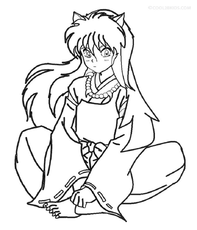 inuyasha coloring pages 4