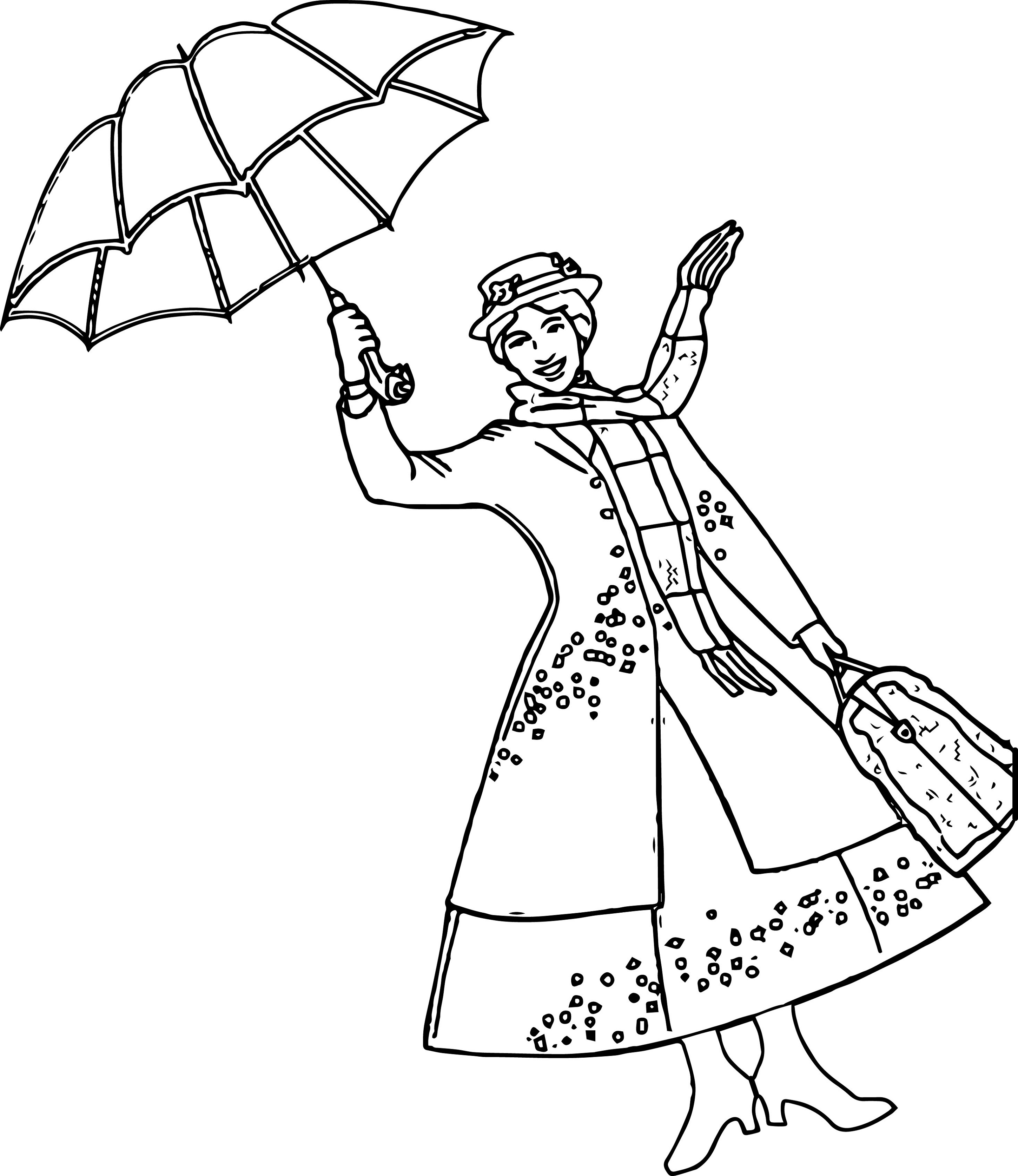 mary poppins coloring pages 1