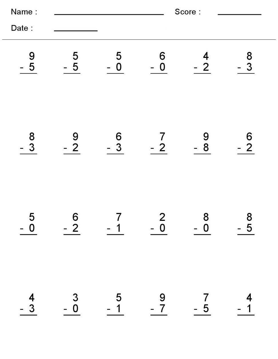 mathematics printable worksheets 1