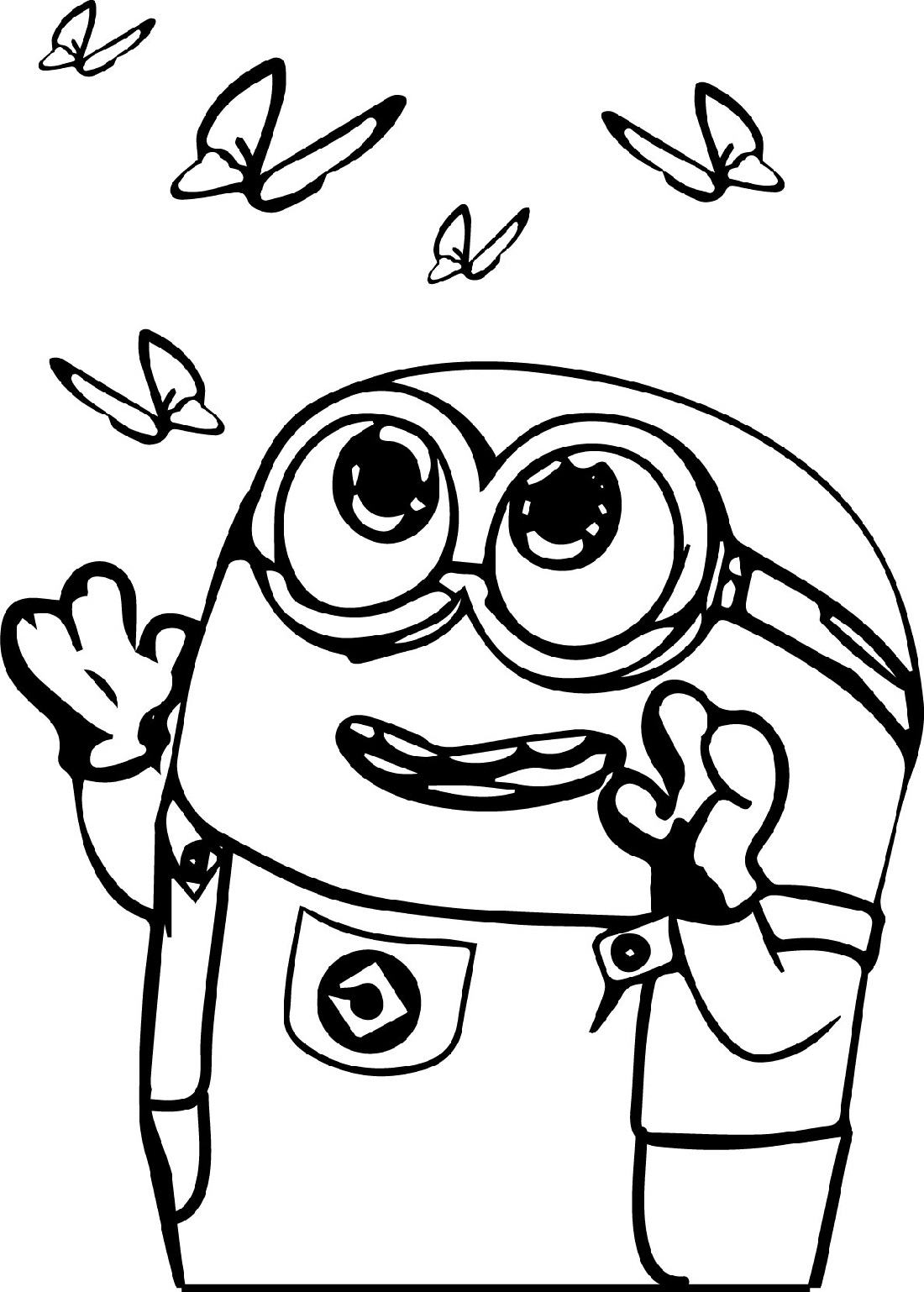 minion coloring pages bob butterfly