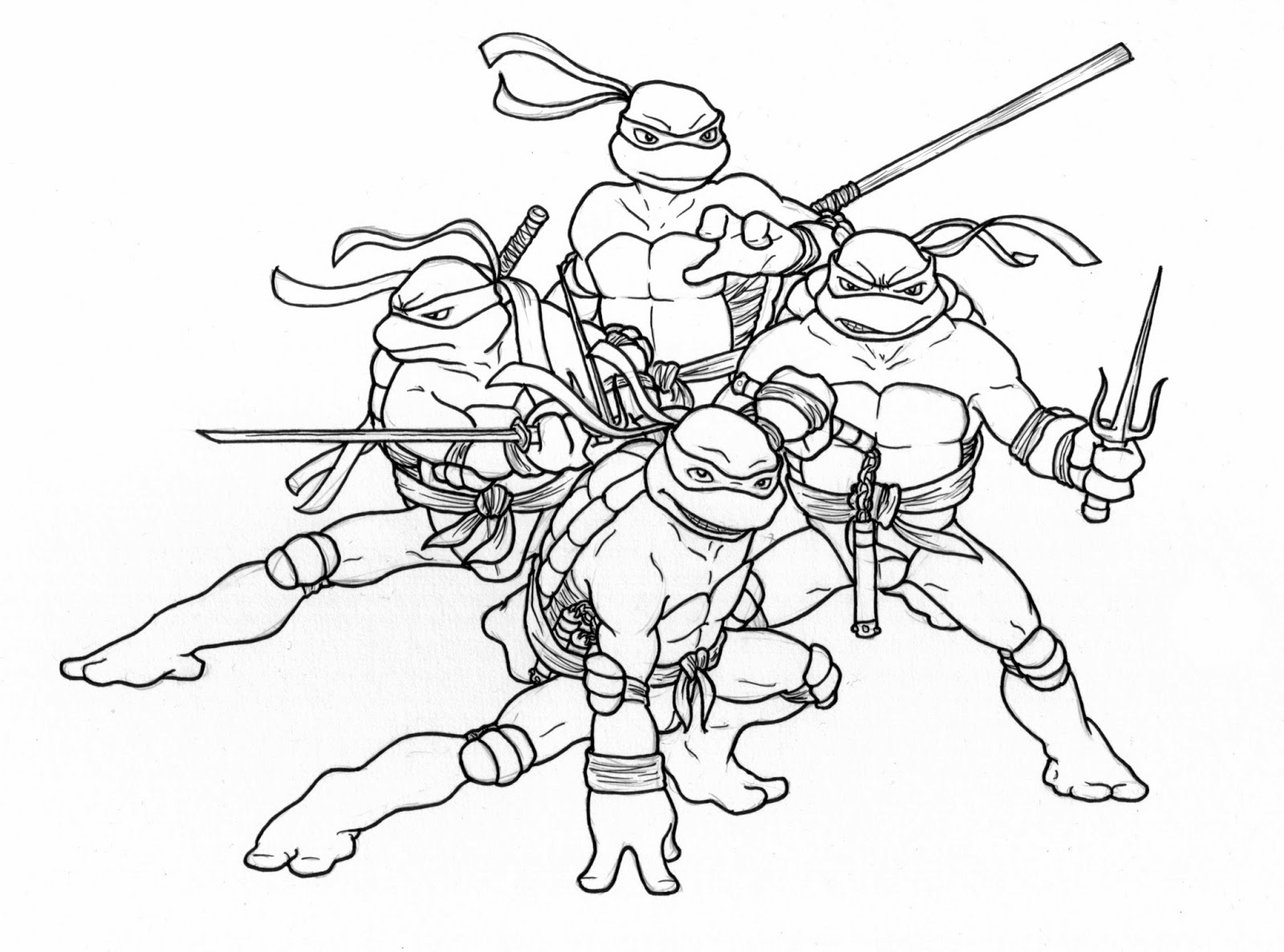 ninja turtle coloring sheets 2